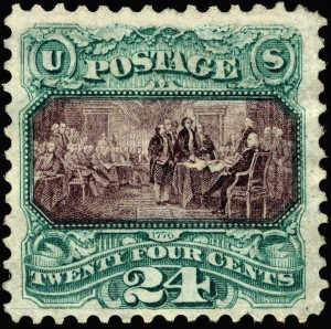 Declaration of Independence commemorative postage stamp, 1869