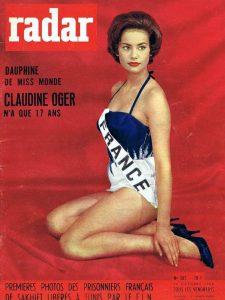 Claudine Auger 1958 Miss France Monde