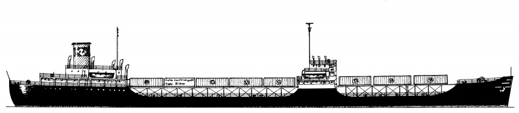 Container steamship Ideal X, built in 1944 as the tanker Potrero Hills.
