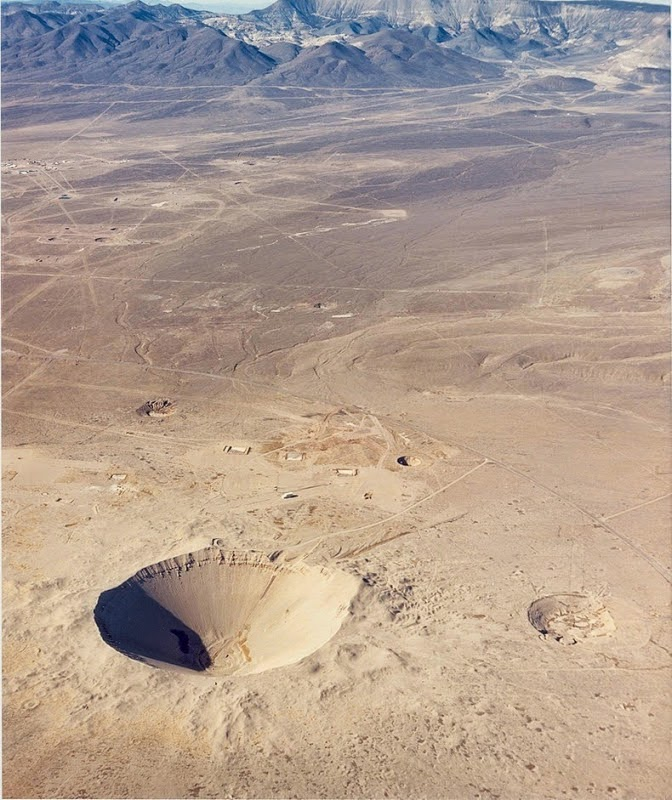 Sedan Crater Aerial View