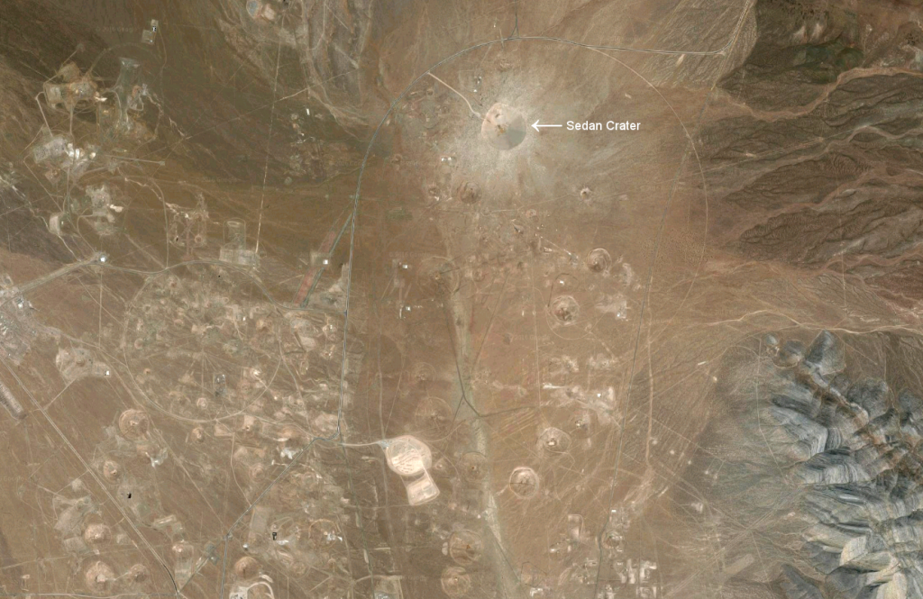 Sedan Crater on Google Maps Satellite View