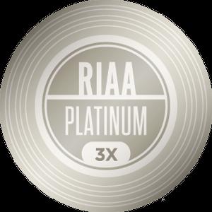 RIAA 3X Platinum Certification — 3,000,000 units