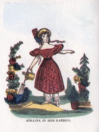 Adeline in her garden.