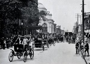 Automobile Club of Buffalo parade. July 7, 1900.