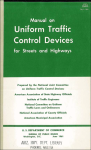 Manual on Uniform Traffic Control Devices for Streets and Highways. June 1961.